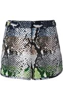 Diane Von Furstenberg Python Print Shorts - Lyst