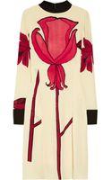 Marni Printed Silkblend Crepe Dress - Lyst