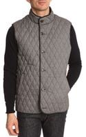 Ted Baker Navy Wool and Nylon Parka - Lyst