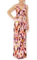 Wallis Tropical Print Maxi Dress - Lyst