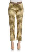 La Via 18 Printed Slim Capri Pants - Lyst