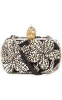 Alexander McQueen Jewel Embroidered Skull Box Clutch - Lyst