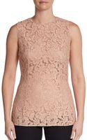 Dolce & Gabbana Sleeveless Lace Top - Lyst