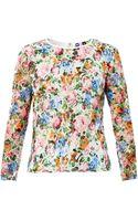MSGM Floralprint Lace Blouse - Lyst