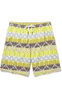 Dan Ward Midlength Printed Swim Shorts - Lyst