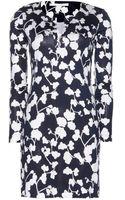 Diane Von Furstenberg Reina Printed Silk Dress - Lyst