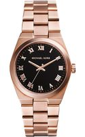 Michael Kors Brooks Rose Goldtoned Stainless Steel Watch Rose Gold - Lyst