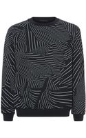 Christopher Kane Printed Multi-stripe Sweater - Lyst