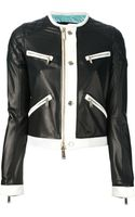 DSquared2 Leather Jacket - Lyst