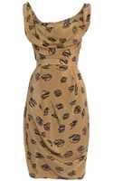 Vivienne Westwood Red Label Corseted Printed Faille Dress - Lyst