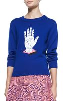 Opening Ceremony Handprint Relaxed Knit Sweater - Lyst