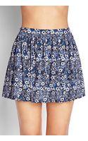 Forever 21 Fresh Floral Skater Skirt - Lyst