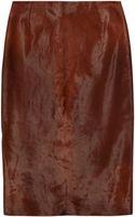Topshop Unique Calf Hair Pencil Skirt - Lyst