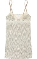 Eberjey Purr Printed Stretchjersey Chemise - Lyst