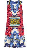 Etro Printed Stretchcrepe Mini Dress - Lyst