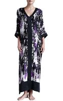 Donna Karan New York Glamour Abstractprint Silk Caftan - Lyst