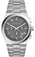 Michael by Michael Kors Midsize Silver Color Stainless Steel Channing Chronograph Watch - Lyst