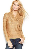 Inc International Concepts Metallic Cowl-neck Sequined Sweater - Lyst