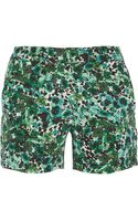 Kain Ogden Printed Silk Crepe De Chine Shorts - Lyst
