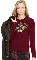 Polo Ralph Lauren Intarsia-knit Floral Sweater - Lyst