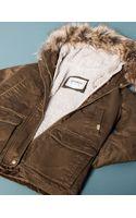 Pull&Bear Basic Parka with Fur Trim Hood - Lyst