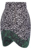 Antonio Berardi Leopard Camouflage Mini Skirt - Lyst