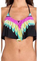 Trina Turk Plumas Crop Top Bikini Top - Lyst