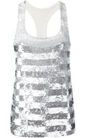 Ashish Sequin Striped Tank - Lyst