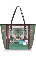 Moschino Hotel Love Canvas and Eco Leather Tote - Lyst