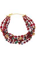 Jose & Maria Barrera Chunky Multistone Necklace - Lyst