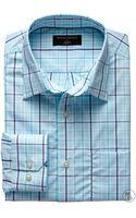 Banana Republic Factory Classic Fit Non Iron Savannah Check Shirt Blue Multi - Lyst