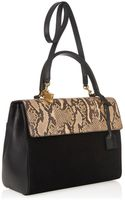 Saint Laurent Moujik Snakeskin Suede and Leather Tote - Lyst