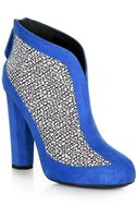 Aperlai Woven Suede Ankle Boots - Lyst