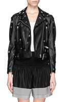 Acne Studios Mape Studded Belted Leather Jacket - Lyst