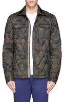 Scotch & Soda Camouflage Quilt Down Jacket - Lyst