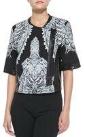 Helmut Lang Urchin-print Sweatshirt Jacket - Lyst