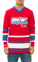 Mitchell & Ness The Washington Capitals Hockey Jersey - Lyst
