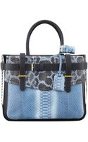 Reed Krakoff Pythonleather Boxer Tote Bag - Lyst