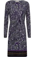 MICHAEL Michael Kors Paisley Print Tunic Dress - Lyst
