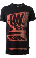 Marc Jacobs Distorted Red Print T-shirt - Lyst