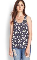Forever 21 Dotted Daisy Pocket Tank - Lyst