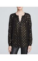 Diane von Furstenberg Metallic-patterned Blouse - Lyst