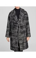 DKNY Oversize Houndstooth Coat - Lyst