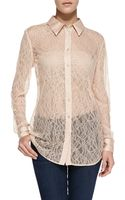 Equipment Reese Clean Long-sleeve Lace Blouse - Lyst