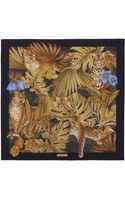 Ferragamo Tiger  Jungle Print Scarf - Lyst