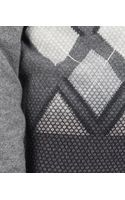 Bottega Veneta Multicolor Hand Knitted Argyle Cashmere Sweater - Lyst