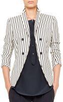 Akris Punto Striped Double-breasted Blazer - Lyst