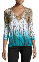 Alberto Makali Knit V-neck High-low Tunic - Lyst