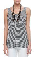 Eileen Fisher Linen Jersey Striped Tank - Lyst