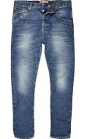 River Island Light Wash Chester Tapered Jeans - Lyst